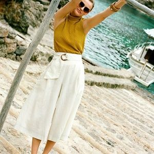 Anthropologie Palm Beach Belted Wide Leg Pants